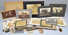 FLAT LOT OF VINTAGE 19TH CENT. - EARLY 20TH CENT. PHOTOGRAPHY