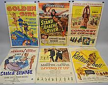 (6) MISC. VINTAGE MOVIE ADVERTISING POSTERS