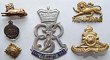 (6) MISC. VINTAGE BRITISH AND CANADIAN INSIGNIA AND SOUVENIRS