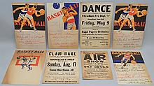 (8) MISC. VINTAGE KEENE N.H. AREA EVENT ADVERTISING POSTER CARDS