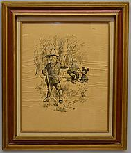 1902 TEDDY ROOSEVELT SERIGRAPH POLITICAL CARTOON BY BERRYMAN