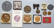 COLLECTION OF (12) MISC. MEDALS INC. SILVER AND BRONZE