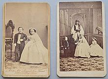 (2) 19TH CENT. C.D.V. PHOTOGRAPHS OF MIDGET TOM THUMB'S WEDDING