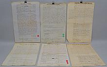 (6) MISC. 19TH CENT. SUFFOLK COUNTY MASS. DEEDS AND LAND SALE DOCUMENTS