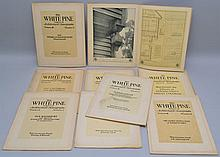 (9) ISSUES OF WHITE PINE ARCHITECTURAL MONOGRAPHS MAGAZINE