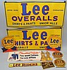 COLLECTION OF VINTAGE LEE BRAND CLOTHING ADVERTISING POSTERS AND SIGNS
