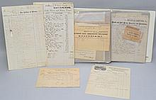 (2) COLLECTORS ALBUMS OF 19TH & EARLY 20TH CENT. BUSINESS CORRESPONDENCE AND BILL HEADS