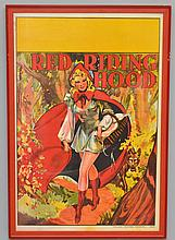 VINTAGE COLOR LITHOGRAPH ADVERTISING SHOW POSTER FOR RED RIDING HOOD