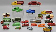 COLLECTION OF (24) MISC. VINTAGE SMALL TOY CARS AND TRUCKS