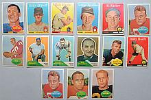 (5) 1958 TOPPS BASEBALL CARDS AND (10) 1960'S FOOTBALL CARDS INC. (3) FLEER AND (7) TOPPS