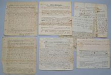 (7) MISC. 18TH & EARLY 19TH CENT. N.E. SHERIFF'S WRITS INC. (6) N.H. AND (1) MASS.