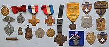 COLLECTION OF (17) MISC. MEDALS, TOKENS AND WATCH FOBS