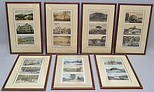 (21) MISC. VINTAGE N.E. POST CARDS IN FRAMES