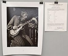 1972 BARRIE WENTZELL SILVER PRINT LIMITED EDITION PHOTOGRAPH OF J. GEILS