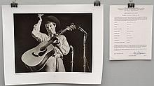 1965 BARRIE WENTZELL SILVER PRINT LIMITED EDITION PHOTOGRAPH OF RAMBLIN JACK ELLIOT