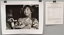 1970 BARRIE WENTZELL SILVER PRINT LIMITED EDITION PHOTOGRAPH OF ERIC BURDON