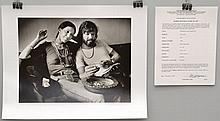 1972 BARRIE WENTZELL SILVER PRINT LIMITED EDITION PHOTOGRAPH OF RITA COOLIDGE AND KRIS KISTOFFERSON