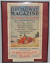 1907 COLOR LITHOGRAPH ADVERTISING POSTER FOR BROADWAY MAGAZINE