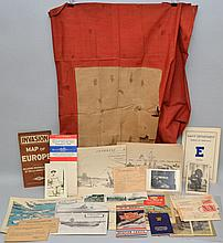 FLAT LOT OF MISC. VINTAGE MILITARY PAPER EPHEMERA
