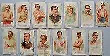 (13) MISC. 19TH CENT. ALLEN & GINTER WORLD CHAMPION SERIES COLLECTORS CARDS