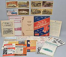 COLLECTION OF MISC. VINTAGE AUTOMOBILE PAPER EPHEMERA