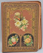 19TH CENT. VICTORIAN SCRAP ALBUM WITH TRADE CARDS