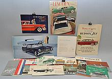 (20) MISC. 1950'S AUTOMOBILE ADVERTSING BROCHURES AND PUBLICATIONS