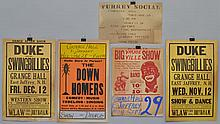 (5) MISC. VINTAGE EAST JAFFREY N.H. EVENT ADVERTISING POSTER CARDS