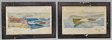 (2) VINTAGE MOTOR BOATING MAGAZINE COLOR LITHOGRAPH ILLUSTRATION SUPPLEMENTS