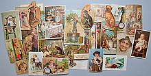 COLLECTION OF APPROX. (100) VICTORIAN ADVERTISING TRADE CARDS - AND EXTRAS