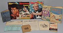 LOT OF VINTAGE SPORTS BOOKS AND EPHEMERA