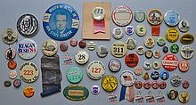 COLLECTION OF APPROX. (64) MISC. VINTAGE PIN BACK BUTTONS