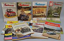 COLLECTION OF (18) VINTAGE BRITISH AUTOCAR MAGAZINES FROM THE 1960'S