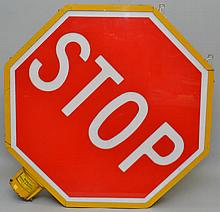 LARGE ELECTRIC TRAFFIC STOP SIGN