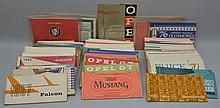 (86) MISC. AUTOMOBILE OWNERS MANUALS FROM THE 1960'S & 1970'S