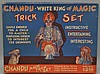 VINTAGE CHANDU WHITE KING OF MAGIC TRICK SET BOXED TOY