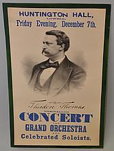 19TH CENT. CONCERT ADVERTISING POSTER FOR A PERFORMANCE BY THEODORE THOMAS