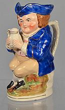 ENGLISH HANDPAINTED POTTERY TOBY JUG
