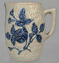 COBALT HIGHLIGHTED STONEWARE JUG