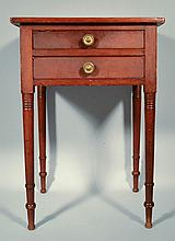 N.E. PAINTED SHERATON (2) DRAWER STAND