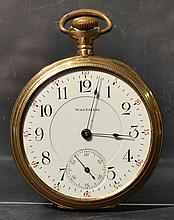 14K YELLOW GOLD CASED WALTHAM POCKET WATCH