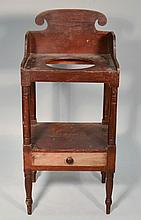 N.E. PAINTED SHERATON WASH STAND WITH DRAWER