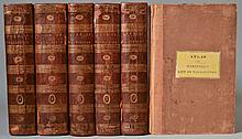 The Life of George Washington, Commander in Chief of the American Forces by John Marshall.  WITH THE ATLAS VOLUME   - 6 Volumes