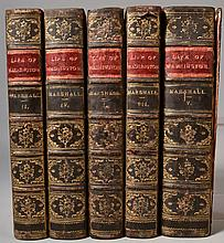 The Life of George Washington, Commander in Chief of the American Forces by John Marshall - Complete in 5 Volumes [FIRST ENGLISH EDITION, WITH RARE MAPS]