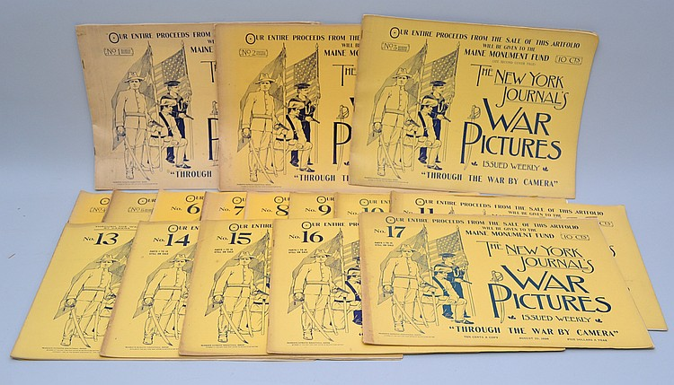 (17) ISSUES OF THE NY JOURNALS WAR PICTURES SPANISH AMERICAN WAR PUBLICATION OF 1898