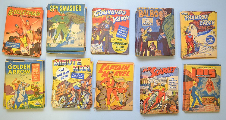 (48) MISC. MINIATURE 1940'S FAWCETT PUBLICATION STAPLE BOOKLET COMICS