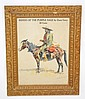 FRAMED 1901 ZANE GREY BOOK ADVERTISING POSTER W/ FREDERIC REMINGTON ILLUSTRATION