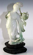 Chinese Nephrite Jade Figure of a Maiden