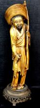 Antique Chinese Carved Ivory Of Fisherman