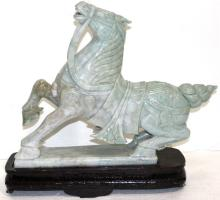Palace Size Chinese Carved Jade Horse Figure